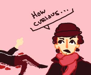 detective discover a crime scene