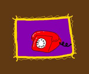 Artwork of a telephone