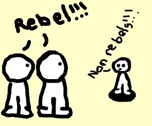 rebel child on playground