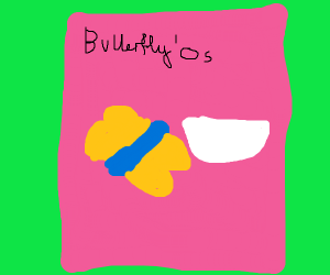 Butterfly cereal YUM!