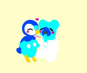Piplup loves cubchoo [ polar bear pokemon]