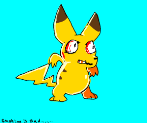 Smoking is bad for pikachu's health