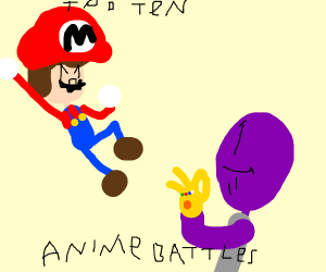 Top 10 anime fights: Mario vs Thanos
