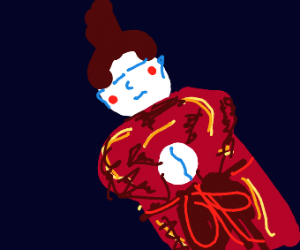 Traditional Japanese doll in red kimono