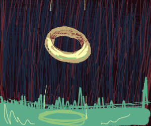 Floating golden ring