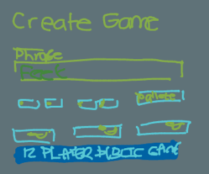 The game creation page