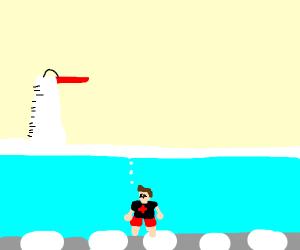 Bad lifeguard