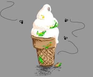 Old Vanilla Ice Cream Cone