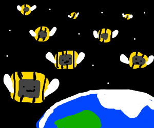 Invasion of the Bee Microwaves from Space