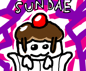 A tasty sundae