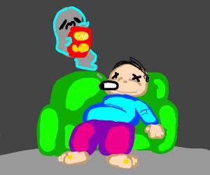Dead fat guy