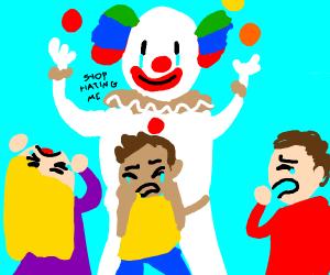 Clown at work