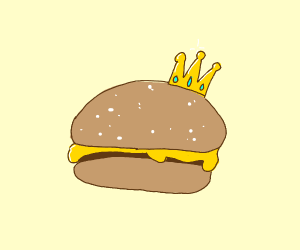 cheeseburger with a crown