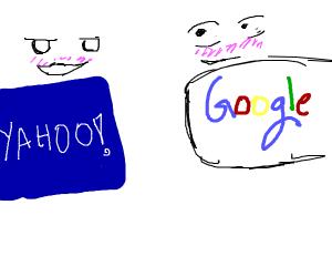 yahoo flirts with google