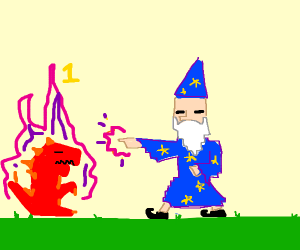 useless wizard in a video game