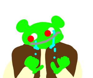 Shrek smiles through the pain