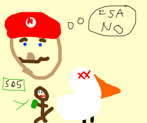 Mario says no to prostitution for dead bird
