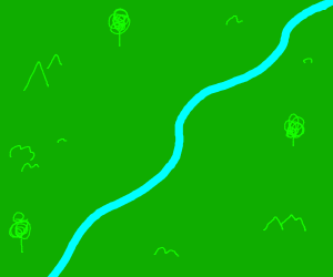 The simplest river that have ever been dawned