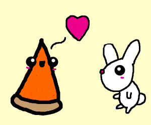 Kawaii pie loves bunny