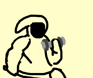 Reaper trying to lift weights