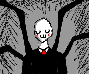 Slender man with a uwu face