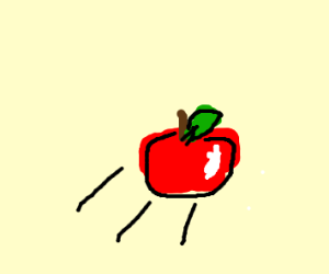 throwing out an apple bc ur bored