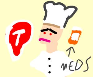 Depressed chef