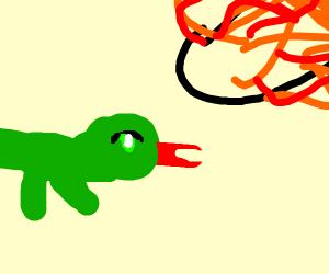 lizard gets blasted by nuke