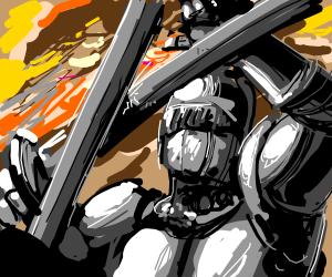 knight fighting for his country