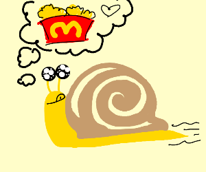 A snail thinking bout nuggets