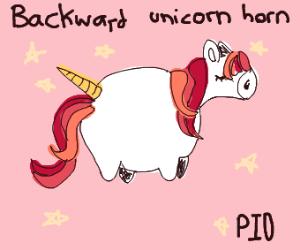 This unicorn horn is backward, PIO?