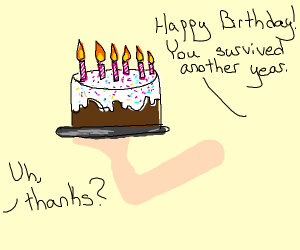 Happy B-Day! You survived another year.