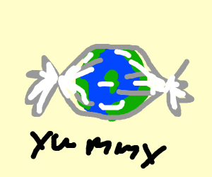 Planet Earth as Candy