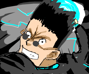Leorio, from HxH, throwing a punch