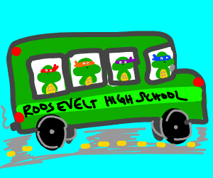 TMNT School Bus