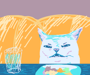 A Cat Eating Breakfast