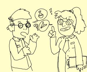Scientist talking