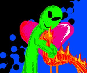 alien and phoenix being in love