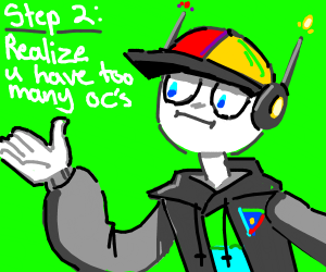 Step one to make an oc: neon colors