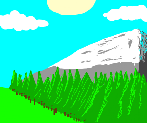 Scenic Mountain with trees