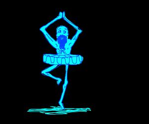 Old man ghost ballerina