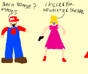 Mario but the main hero is saving himself