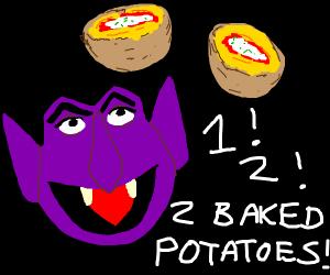 dracula likes baked potato yum