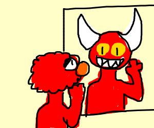 Elmo Sees Himself as a Monster