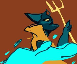 Reptilian Water Deity