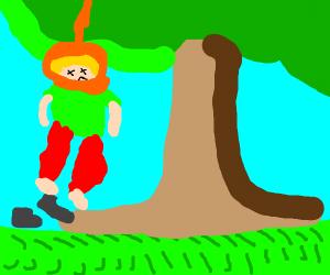 Shaggy is, like, stuck in a tree