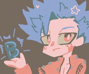 Cute smexy  anime boy with a B