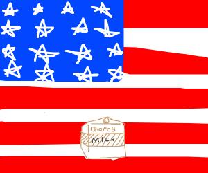 Patriotic Chocolate Milk