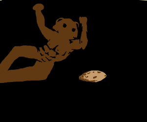wrestling pedobear hitting elbow to a cookie