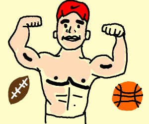 Athlete wearing a Hat